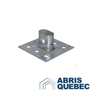 Ancrage industriel pour abri d'auto | Sous-patte industriel