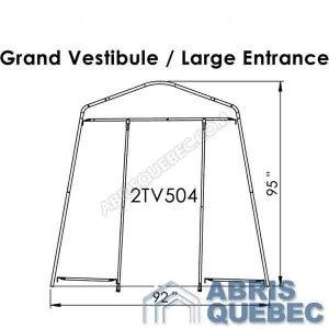 Arche d'une structure d'abri grand Vestibule Harnois