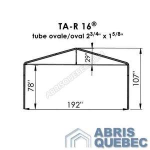 Arche d'une structure d'abri TA-R 16 Harnois