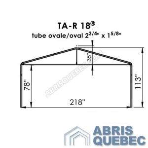 Arche d'une structure d'abri TA-R 18 Harnois