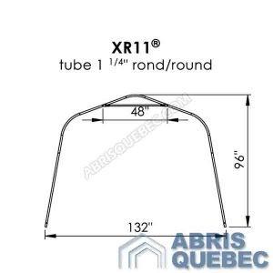 Arche d'une structure d'abri XR 11 Harnois