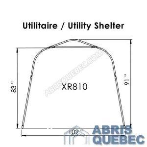 Arche d'une structure d'abri XR 810 Harnois