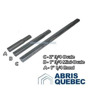 Extension abri d'auto | Rond 1 1/4 | Ovale 2 3/4 | Mini-Ovale 1 3/4
