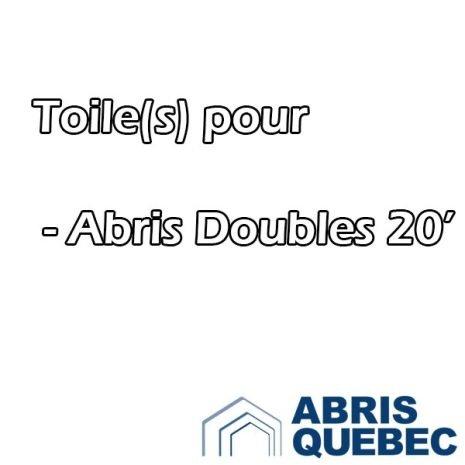Toile de remplacement pour Abri Double de 20 pieds de large Abris Harnois